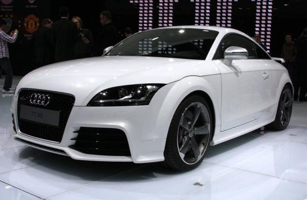 White Audi Autonomous Car
