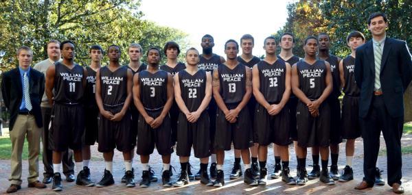 Group shot of Peace's basketball team