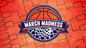 March Madness Logo depicting a basketball inside of a hoop