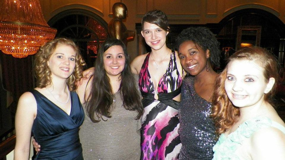 Group of Peace ladies at the Red Rose Ball.