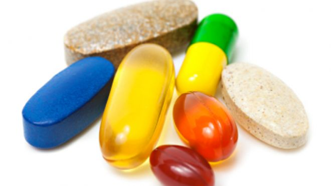 A picture of various types of vitamins