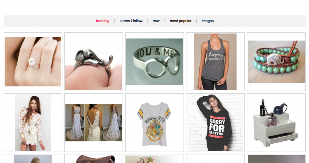 wanelo advertisment, find unique products and stores you've never heard of