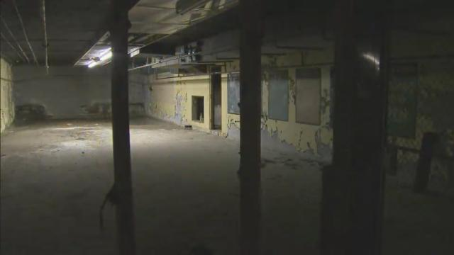 abandon room of the old subway in cameron village