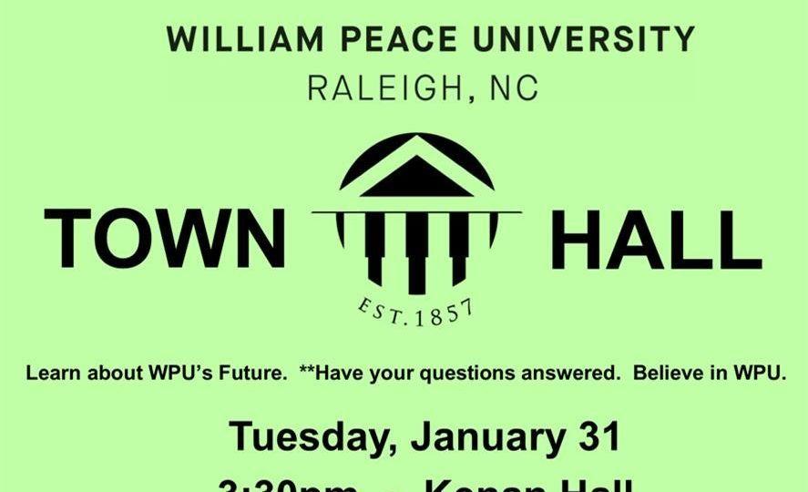 WPU Town Hall poster