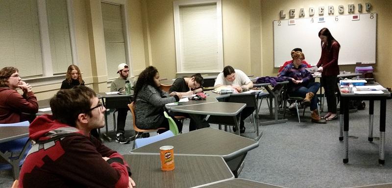 Art club meeting at WPU
