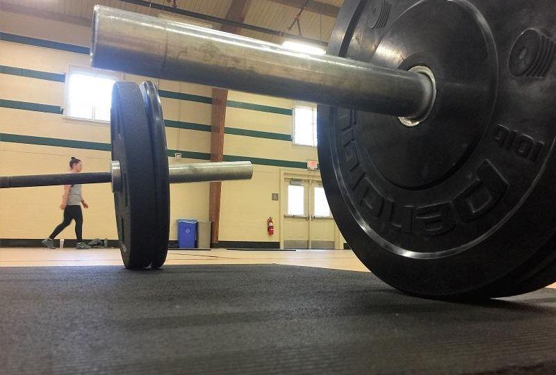 Weights on ground at WPU gym