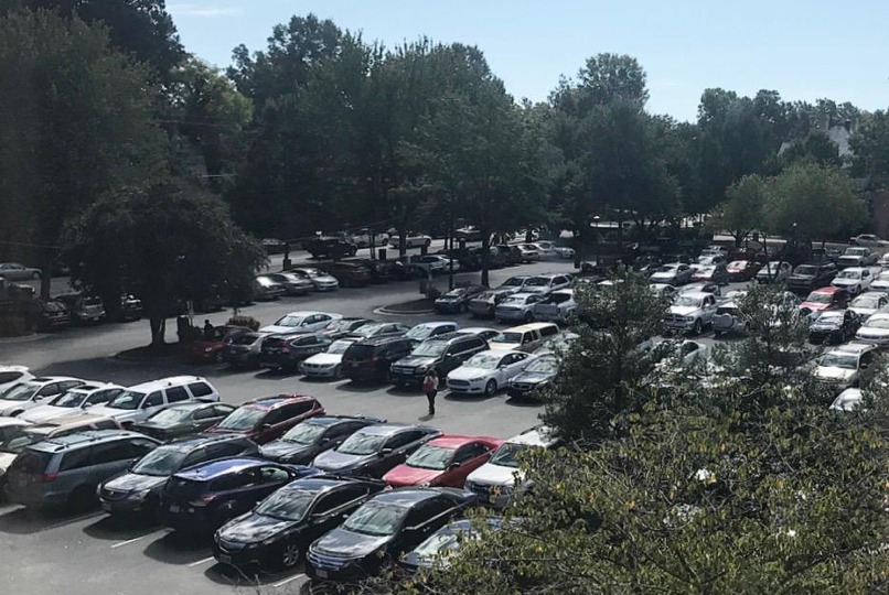 Peace parking lot is full