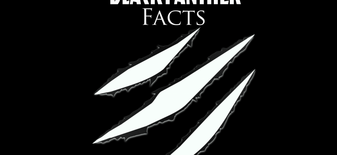 """black background with words """"Black Panther facts"""""""