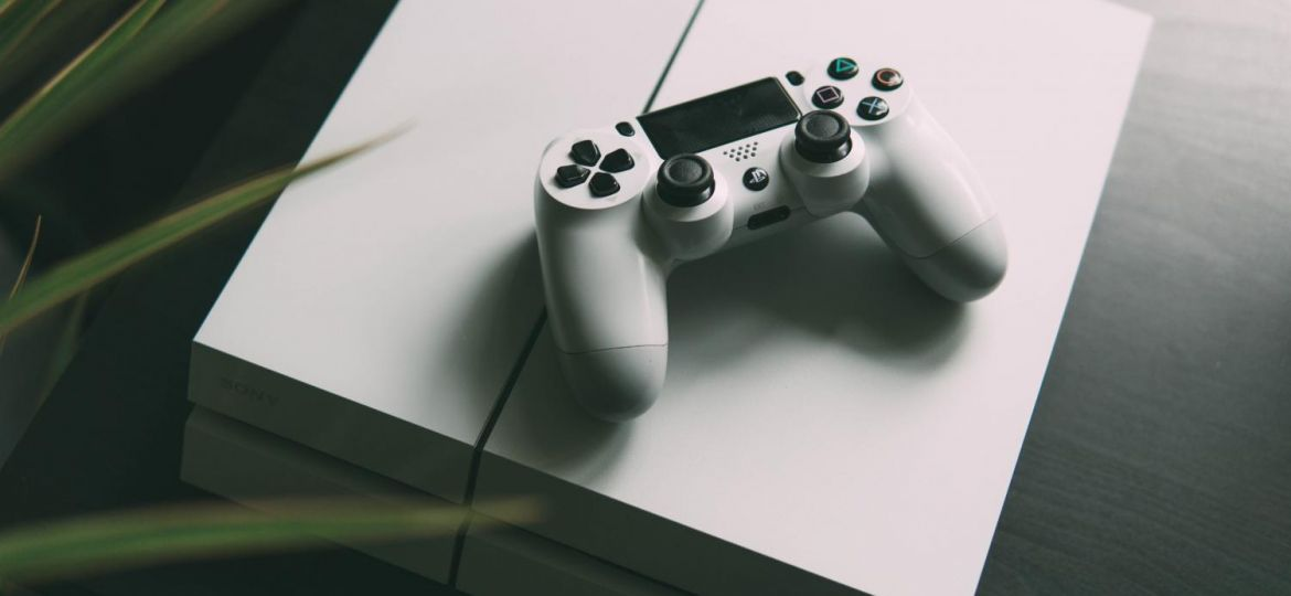 A video game console and game controller