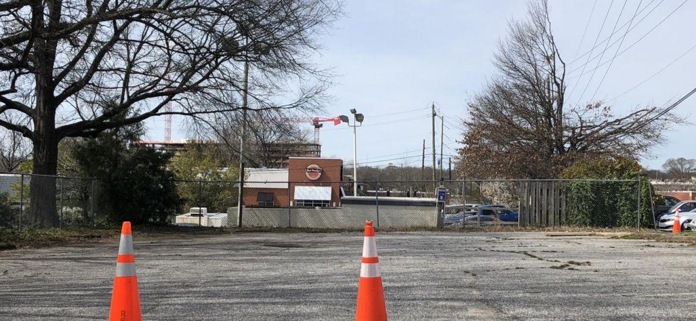 parking lot at Seaboard Station
