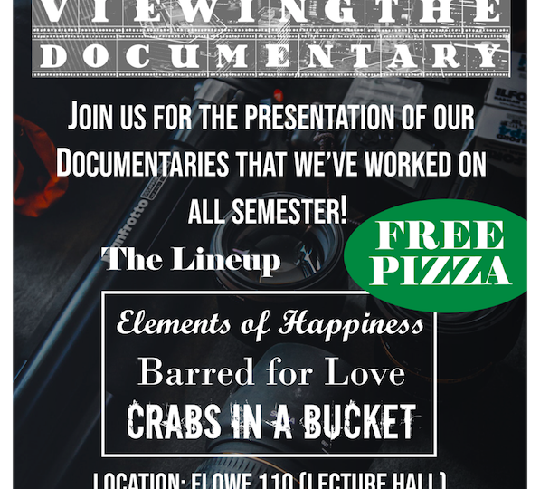 Poster advertising documentary event