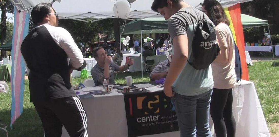 Students visiting booths at WPU's career fair